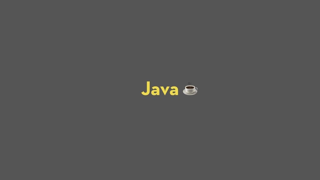 Java ☕