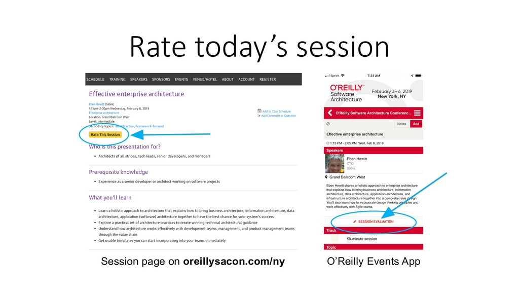 Rate today's session Session page on oreillysac...