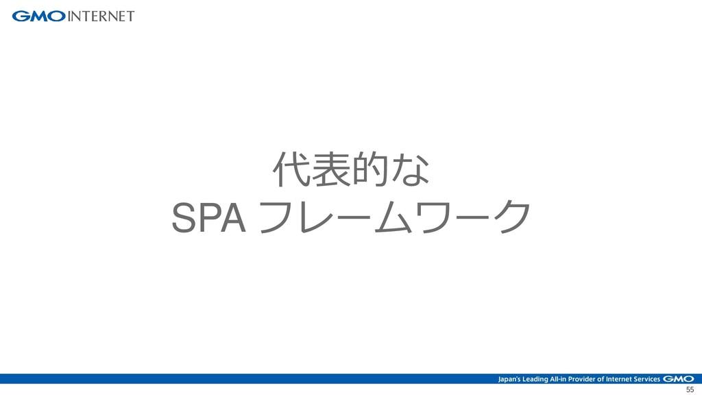 55 代表的な SPA フレームワーク