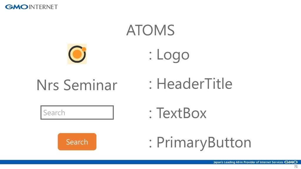 71 Nrs Seminar ATOMS : Logo : HeaderTitle Searc...