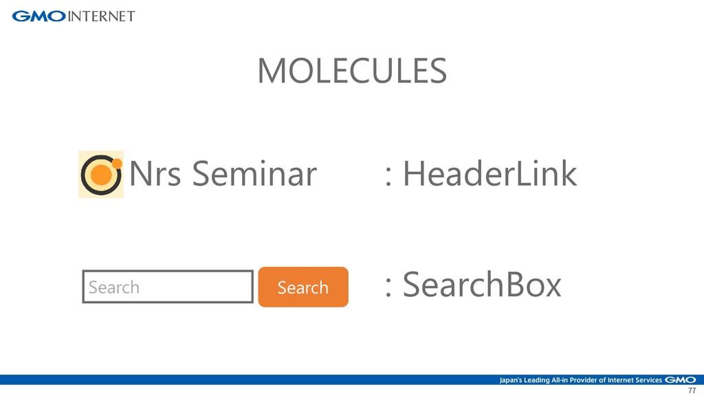 77 MOLECULES Search Search Nrs Seminar : Header...