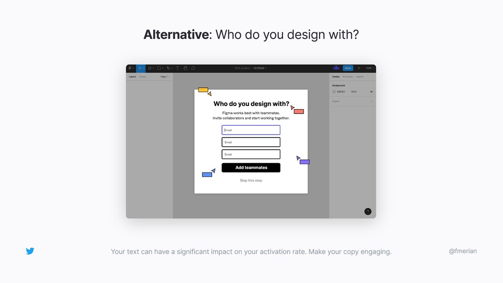 Alternative: Who do you design with? Your text ...