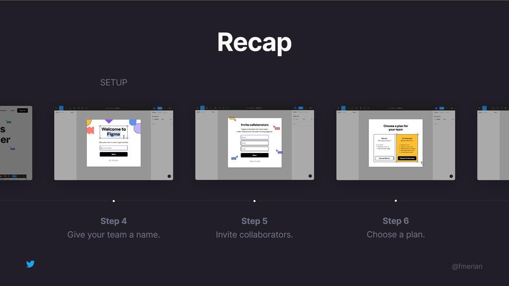 Recap Step 5 Invite collaborators. Step 4 Give ...