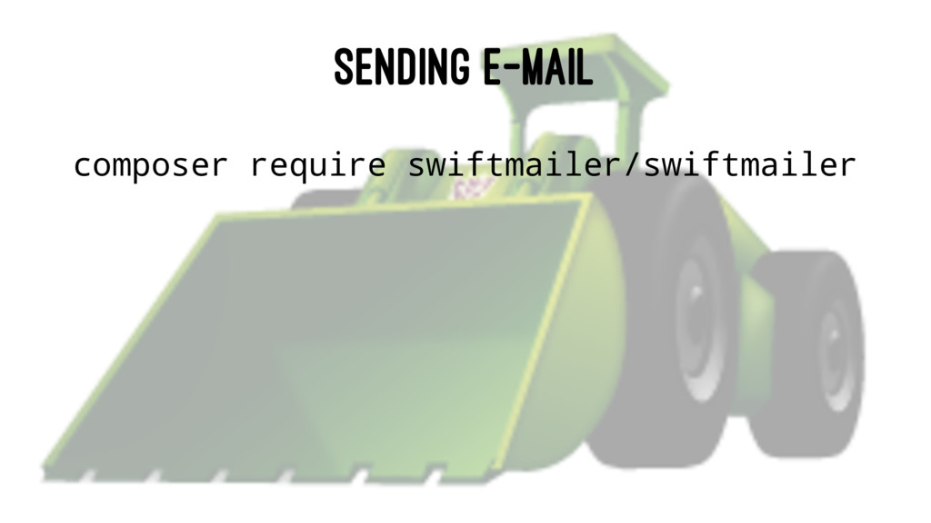 SENDING E-MAIL composer require swiftmailer/swi...