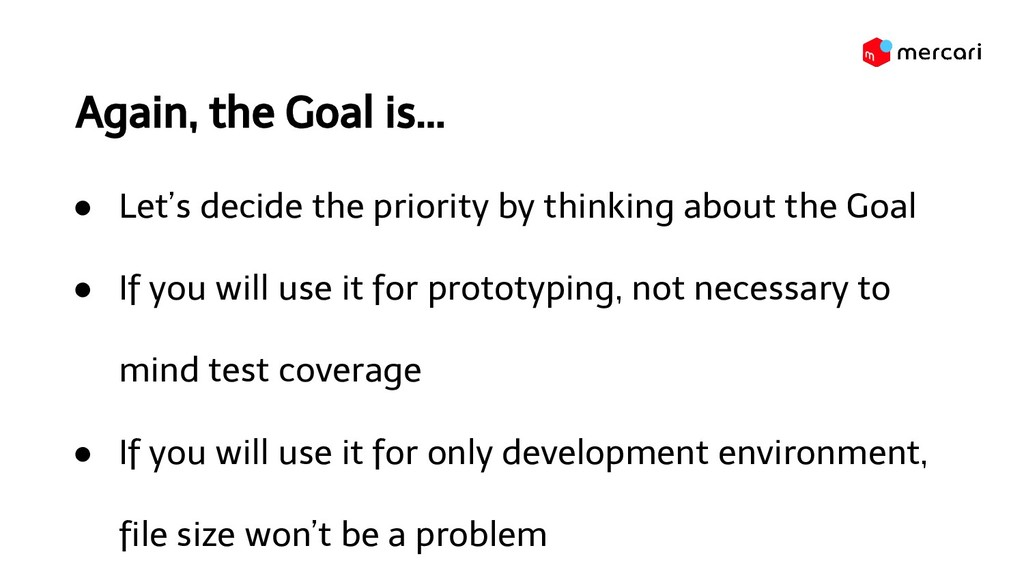 Again, the Goal is... ● Let's decide the priori...