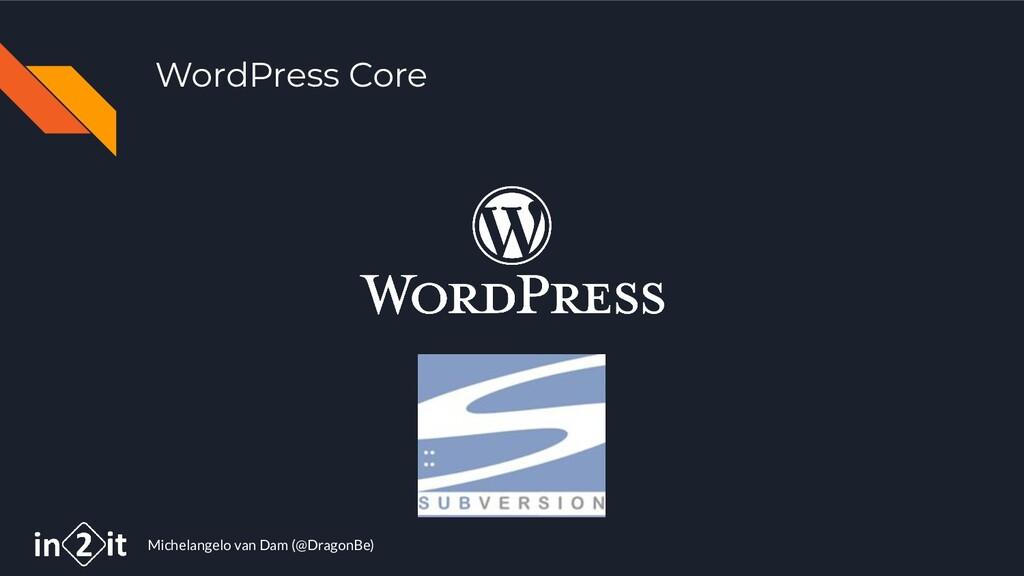 Michelangelo van Dam (@DragonBe) WordPress Core
