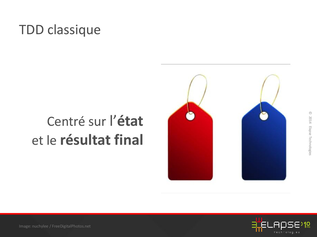 © 2014 Elapse Technologies TDD classique Centré...