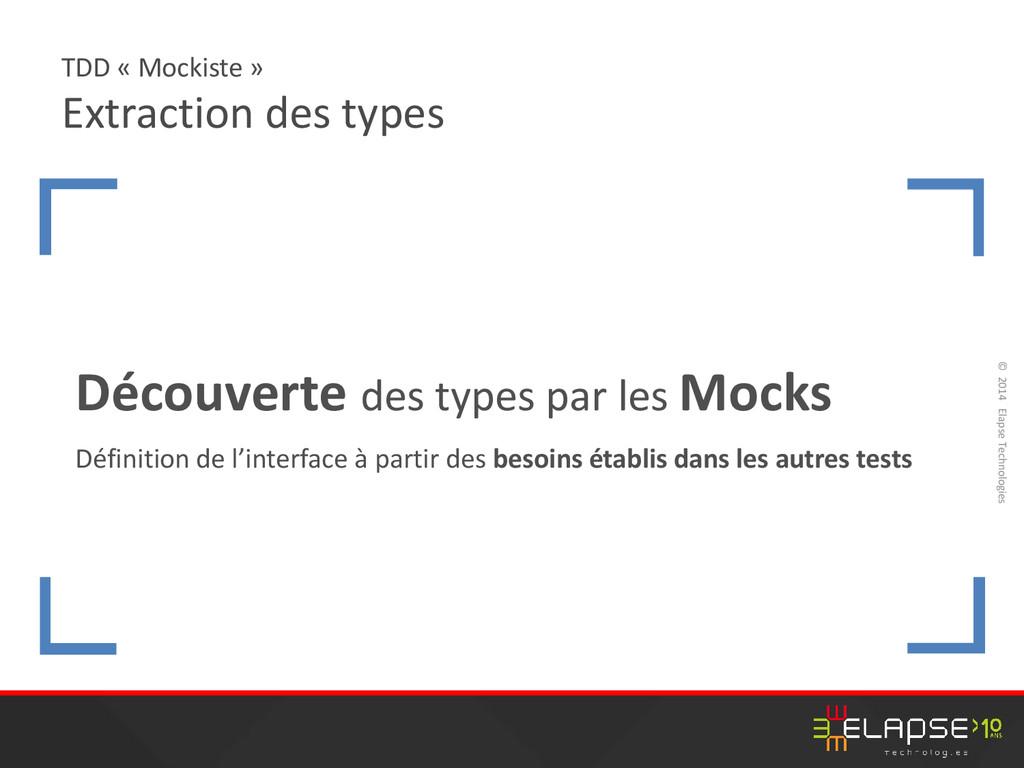 © 2014 Elapse Technologies TDD « Mockiste » Ext...