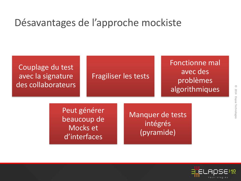 © 2014 Elapse Technologies Désavantages de l'ap...