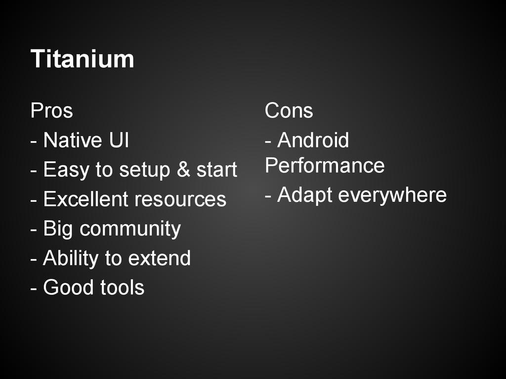Titanium Pros - Native UI - Easy to setup & sta...