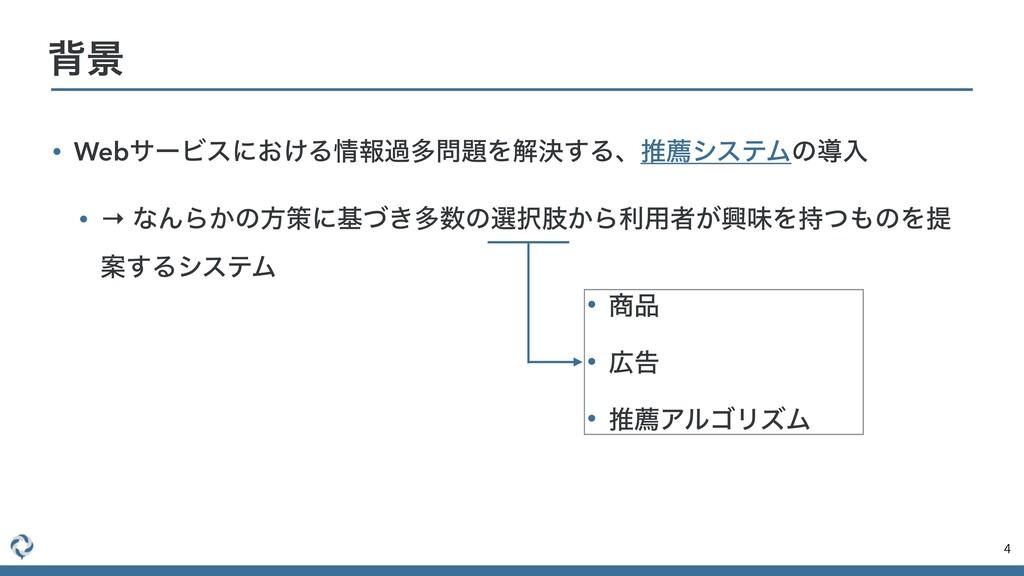 • WebαʔϏεʹ͓͚ΔใաଟΛղܾ͢ΔɺਪનγεςϜͷಋೖ • → ͳΜΒ͔ͷํࡦʹ...