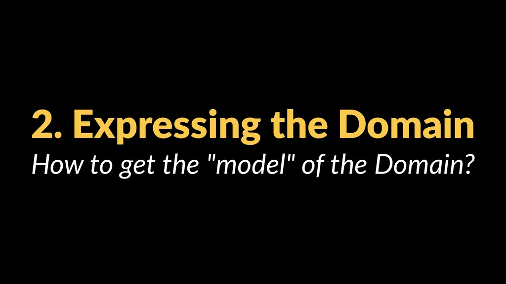 "2. Expressing the Domain How to get the ""model""..."
