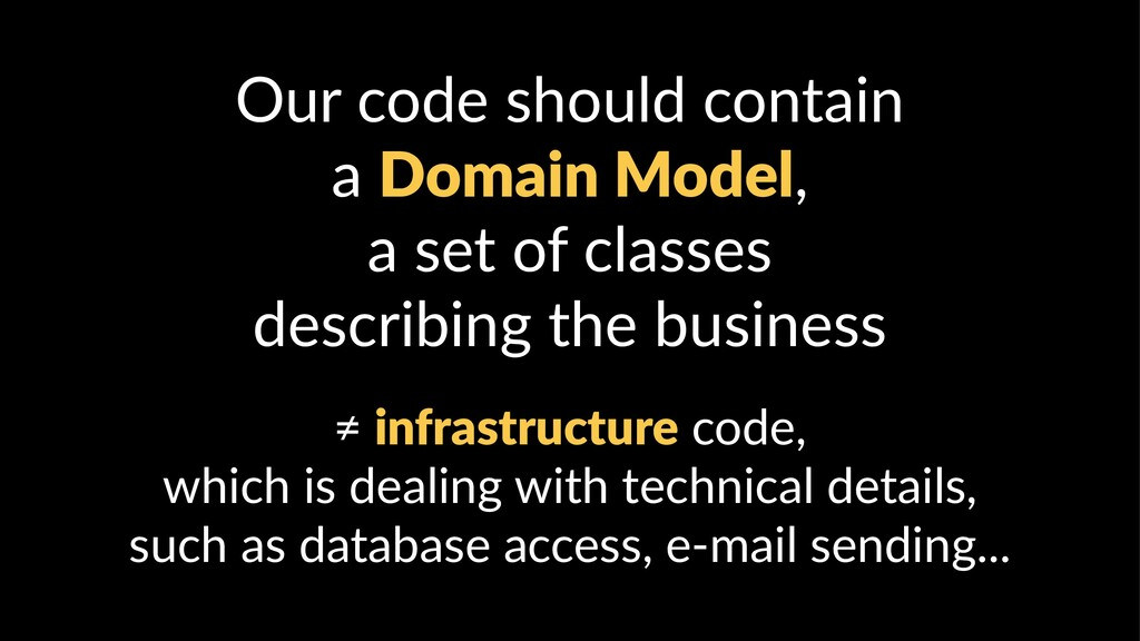Our code should contain a Domain Model, a set o...