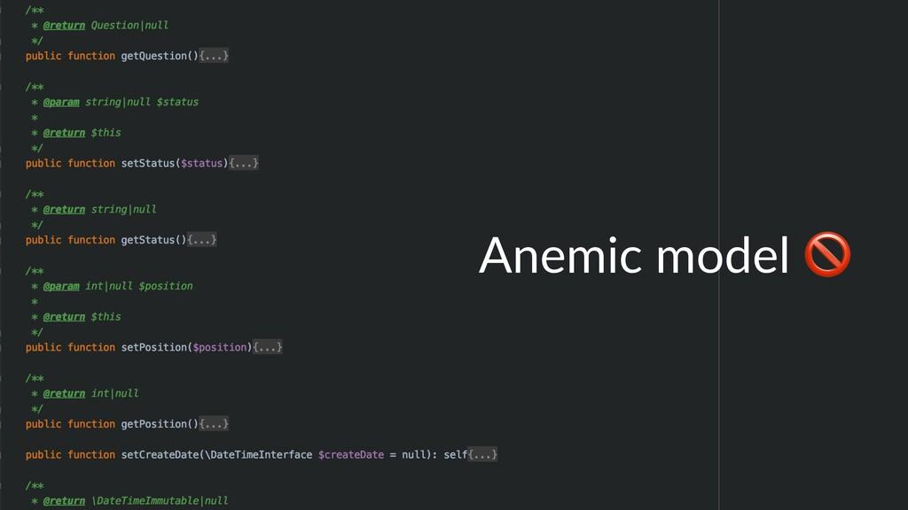 Anemic model