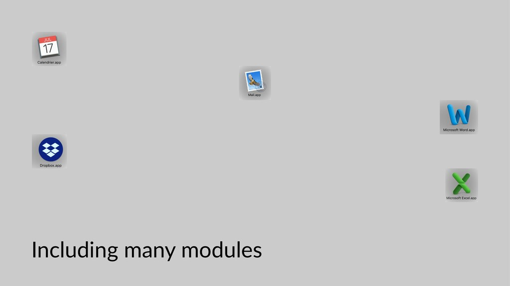 Including many modules