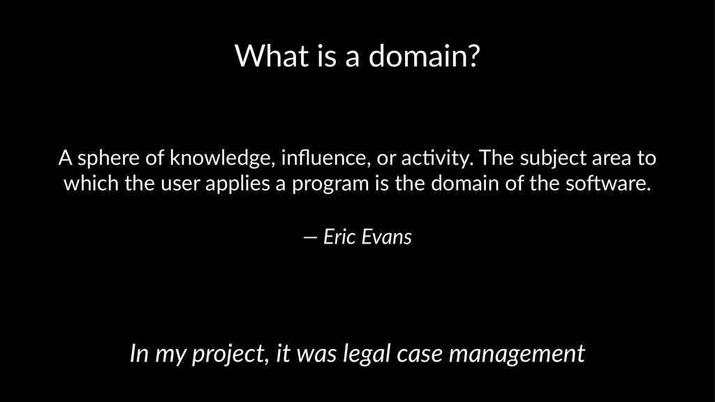 What is a domain? A sphere of knowledge, influen...