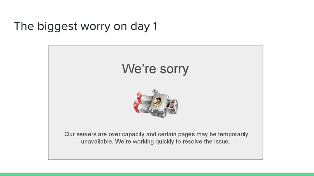 We're sorry Our servers are over capacity and c...