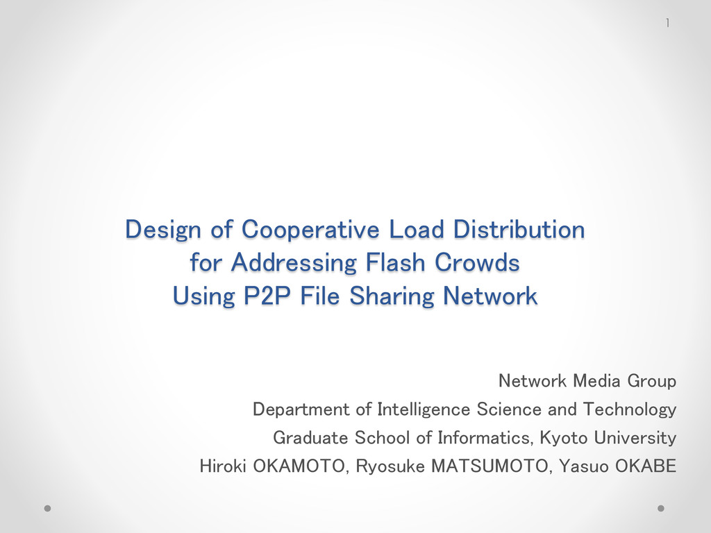 Design of Cooperative Load Distribution for Add...