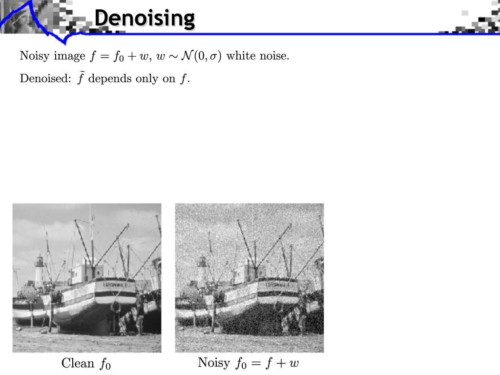 Denoising
