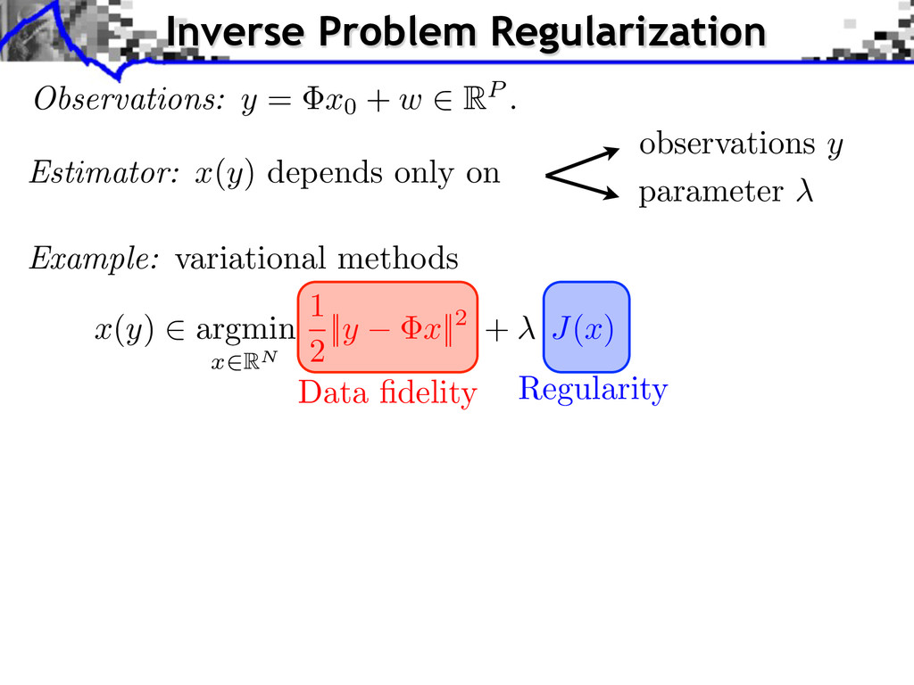 Inverse Problem Regularization observations y p...