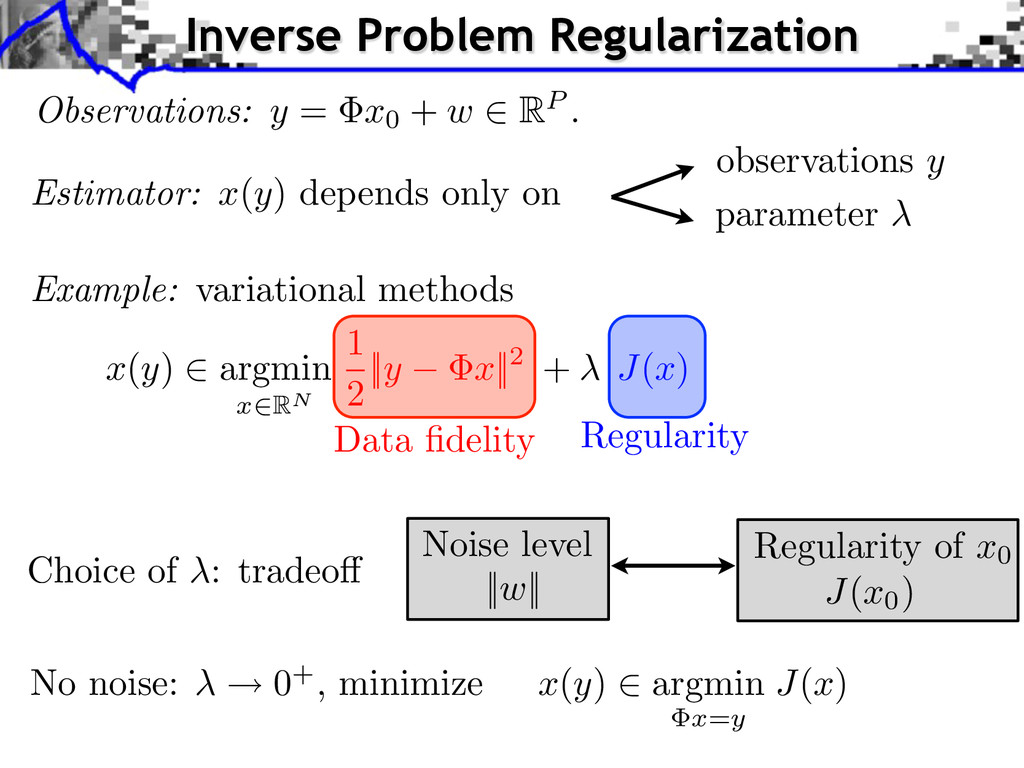 J ( x0) Regularity of x0 x ( y ) 2 argmin x = y...