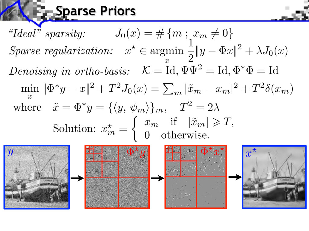 Sparse regularization: Denoising in ortho-basis...
