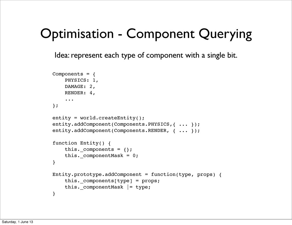 Optimisation - Component Querying Components = ...