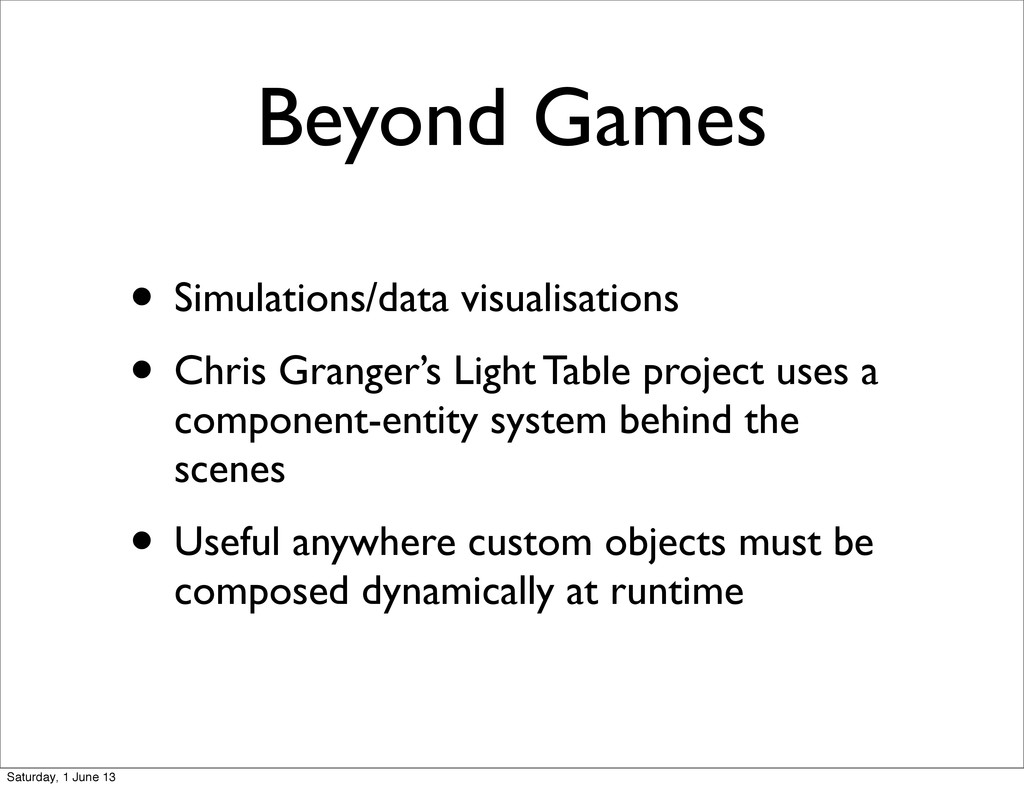 Beyond Games • Simulations/data visualisations ...
