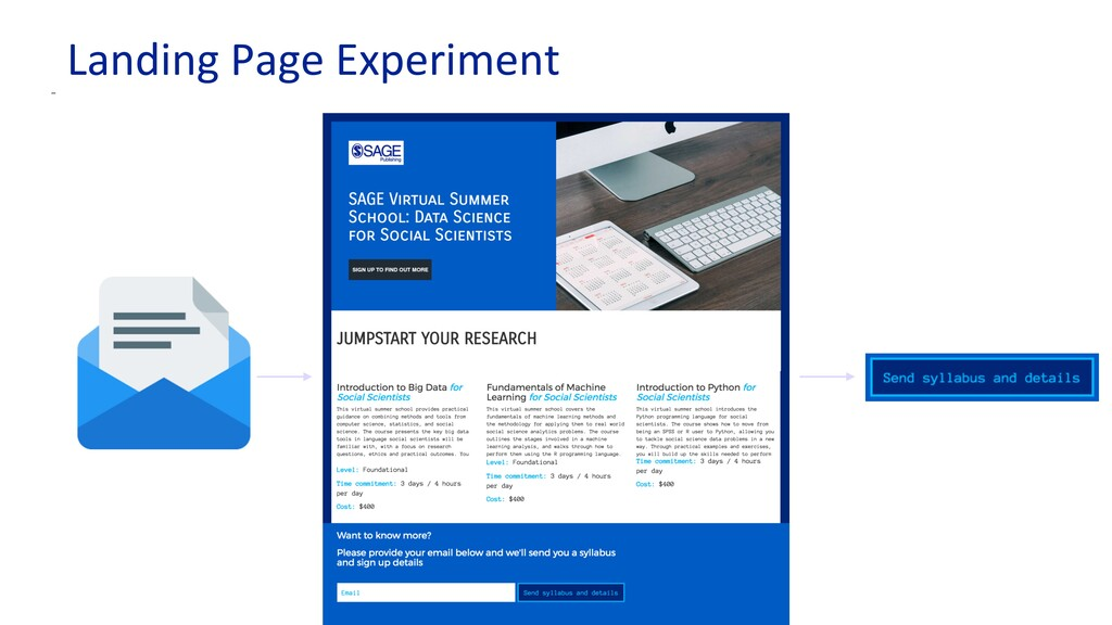 Landing Page Experiment