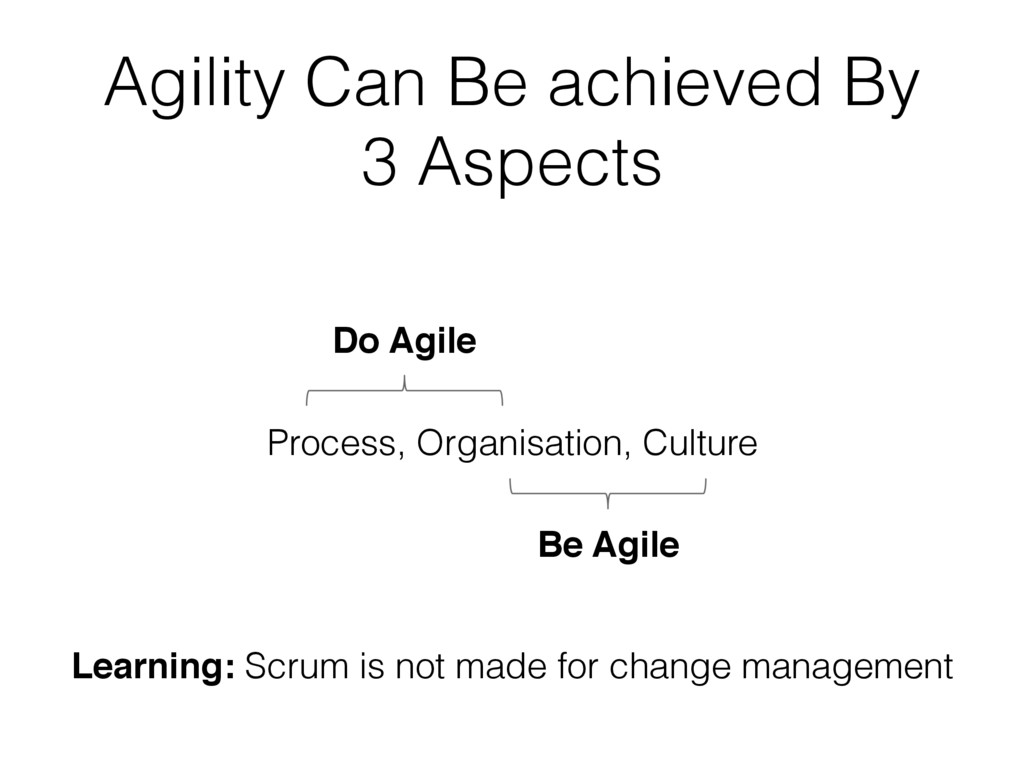 Agility Can Be achieved By 3 Aspects Process, O...