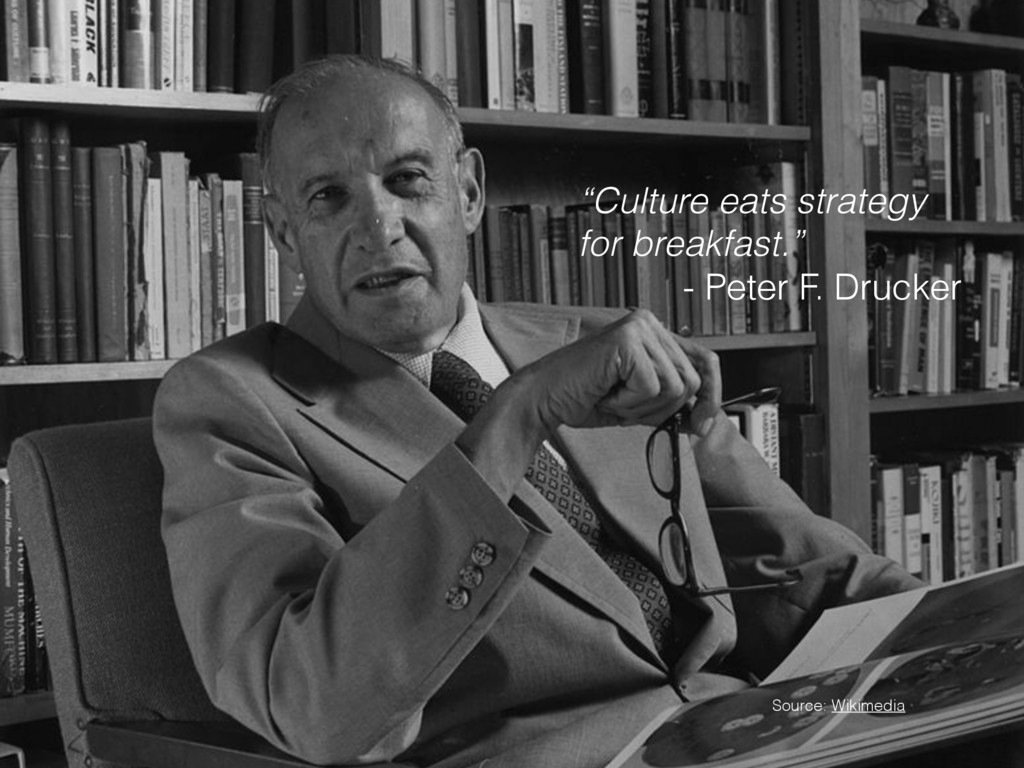 """""""Culture eats strategy for breakfast."""" - Peter ..."""