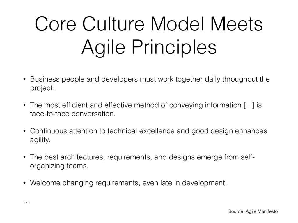 Core Culture Model Meets Agile Principles • Bus...