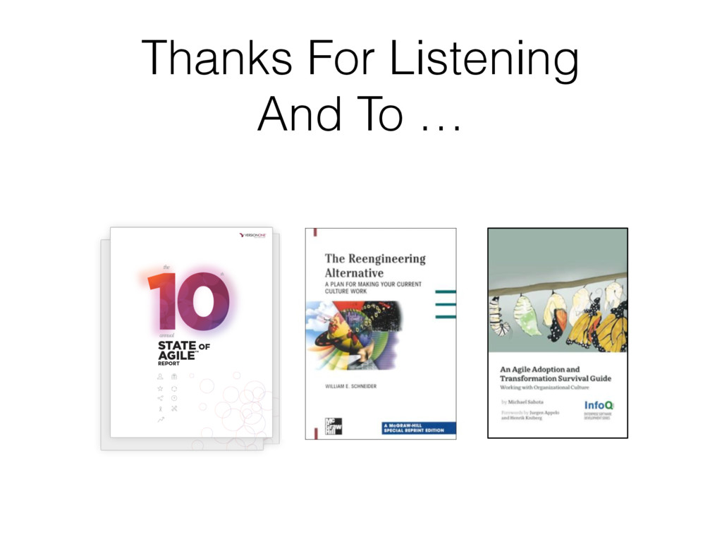 Thanks For Listening And To …