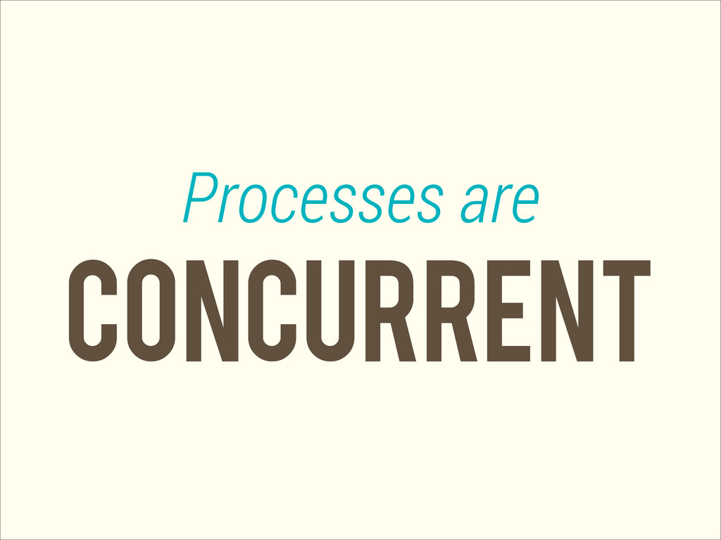concurrent Processes are