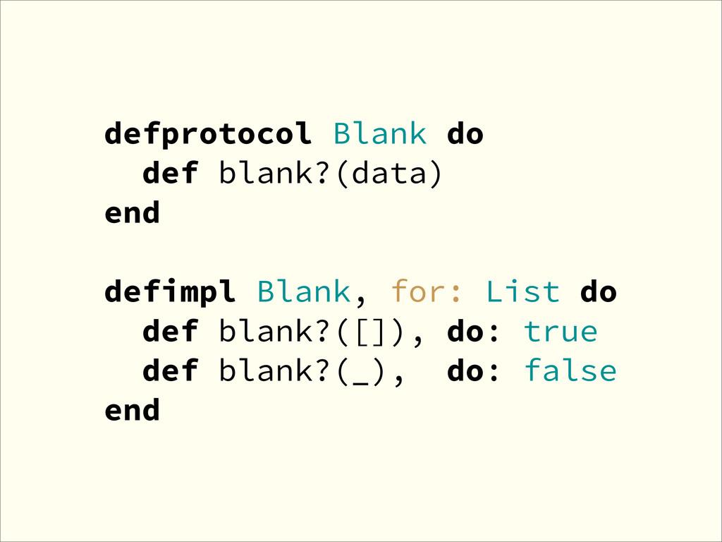 defprotocol Blank do def blank?(data) end defim...