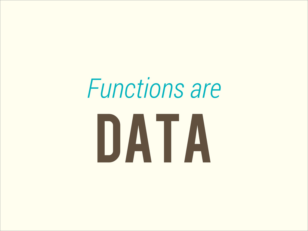 data Functions are