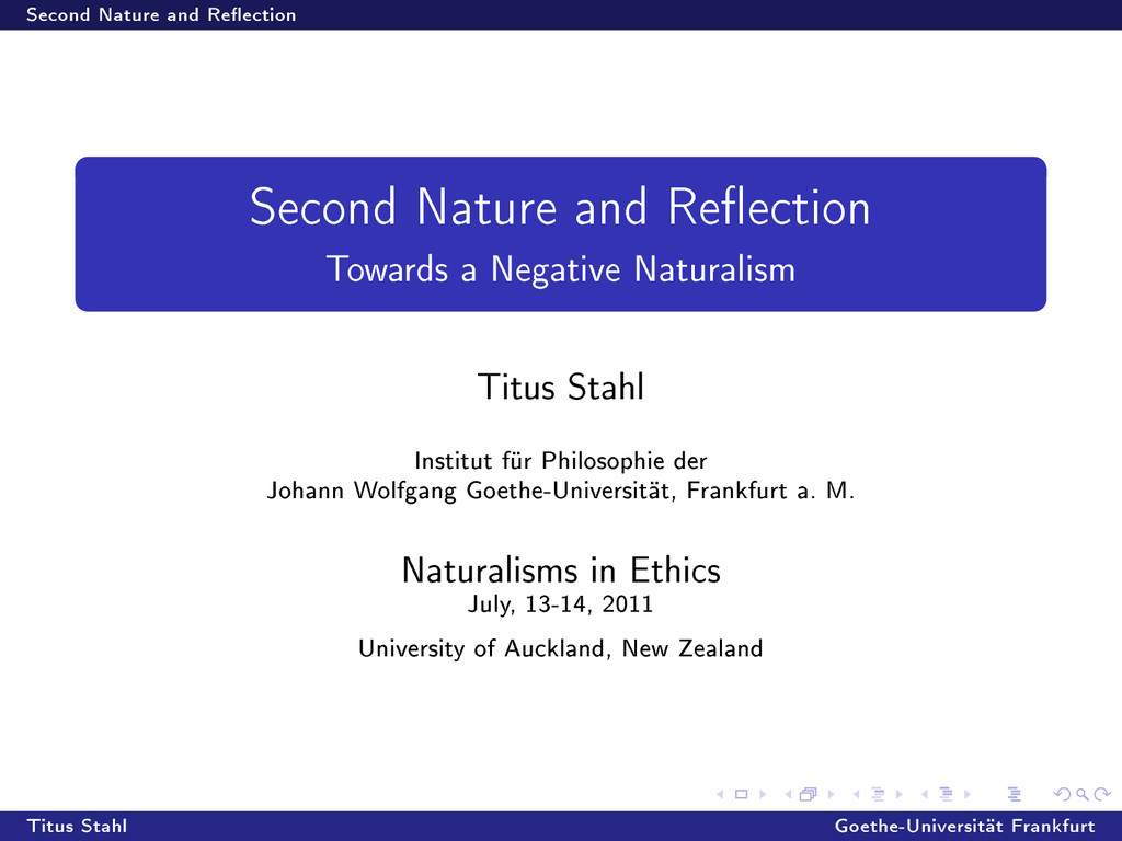 Second Nature and Reection Second Nature and R...