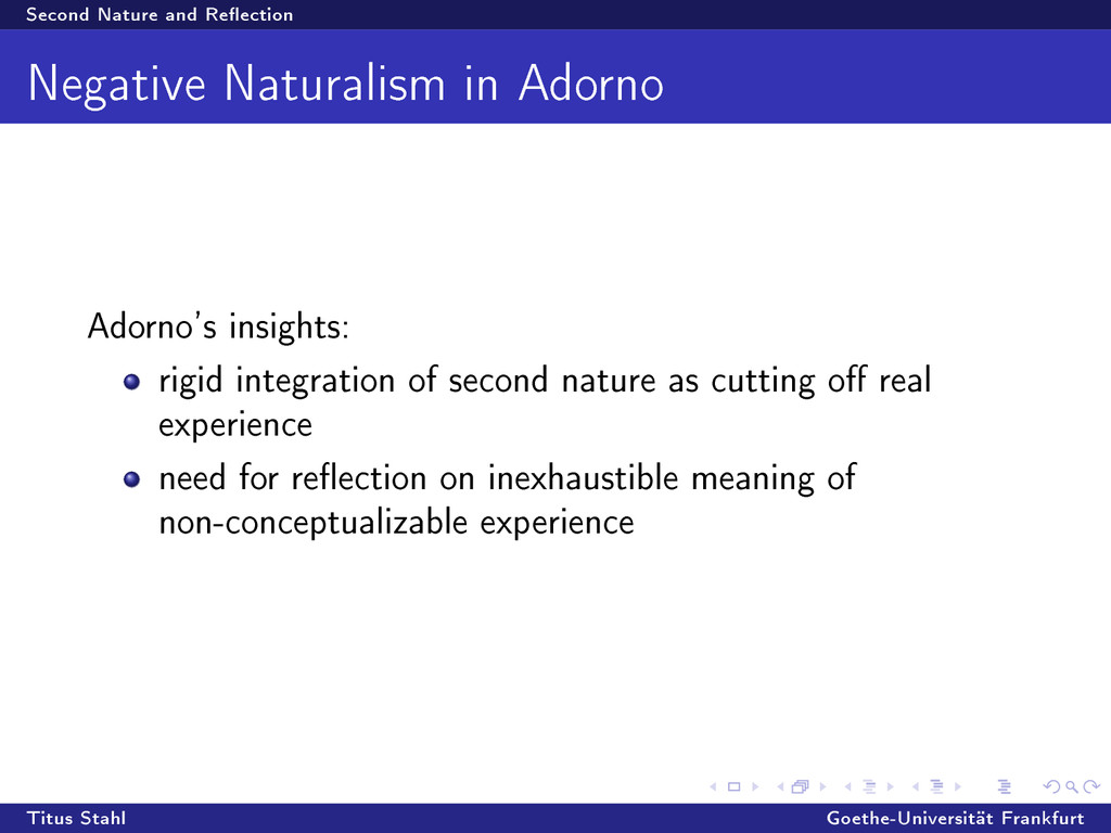 Second Nature and Reection Negative Naturalism...