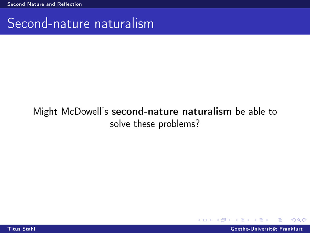 Second Nature and Reection Second-nature natur...