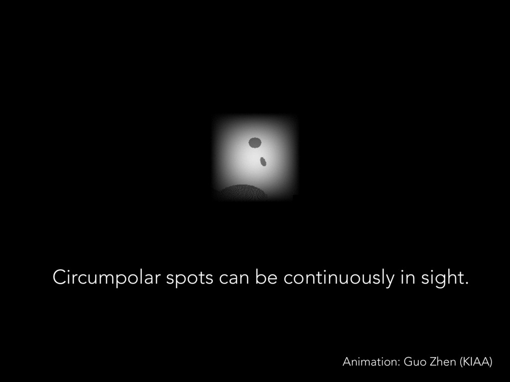 Circumpolar spots can be continuously in sight....