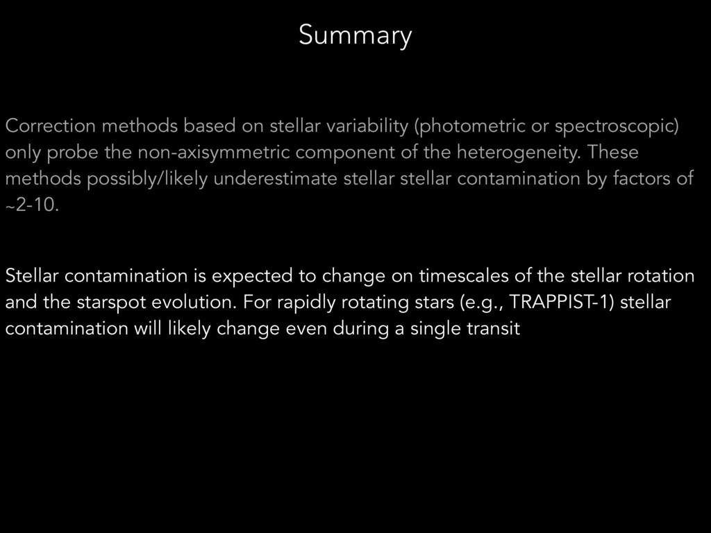 Correction methods based on stellar variability...