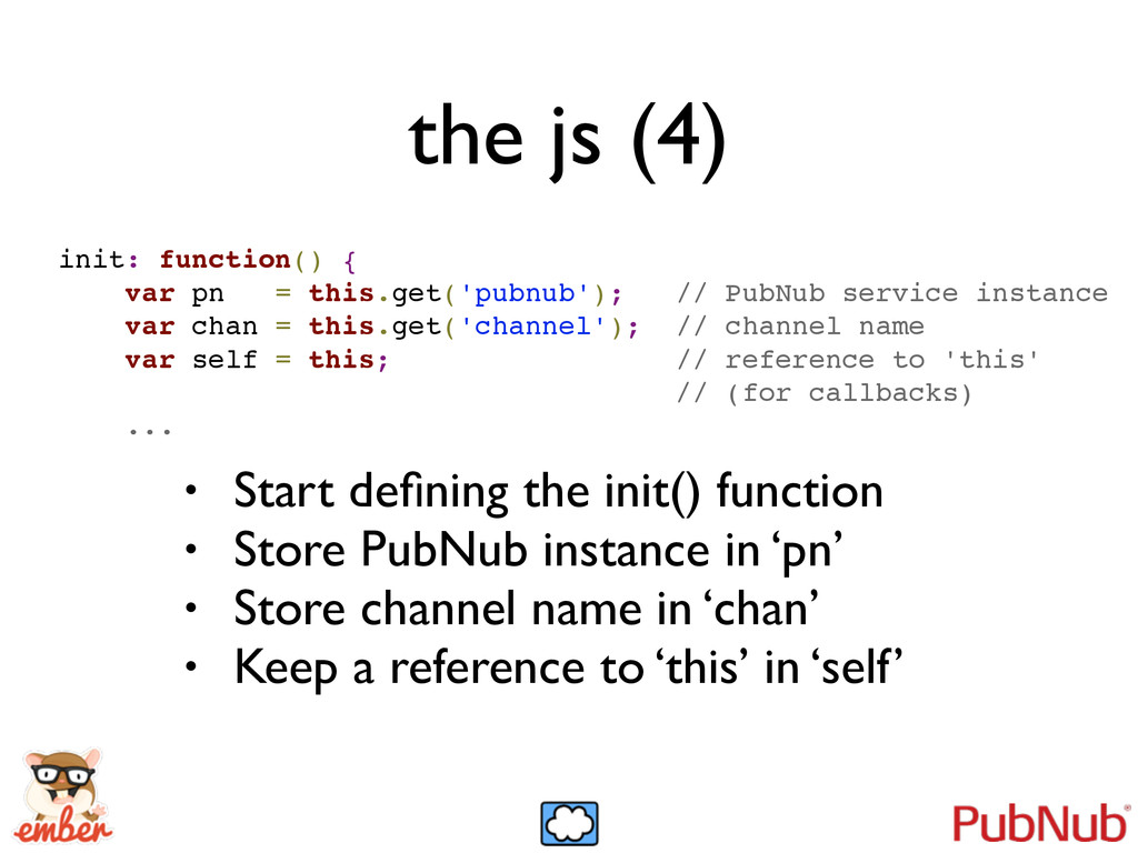 the js (4) init: function() {! var pn = this.ge...