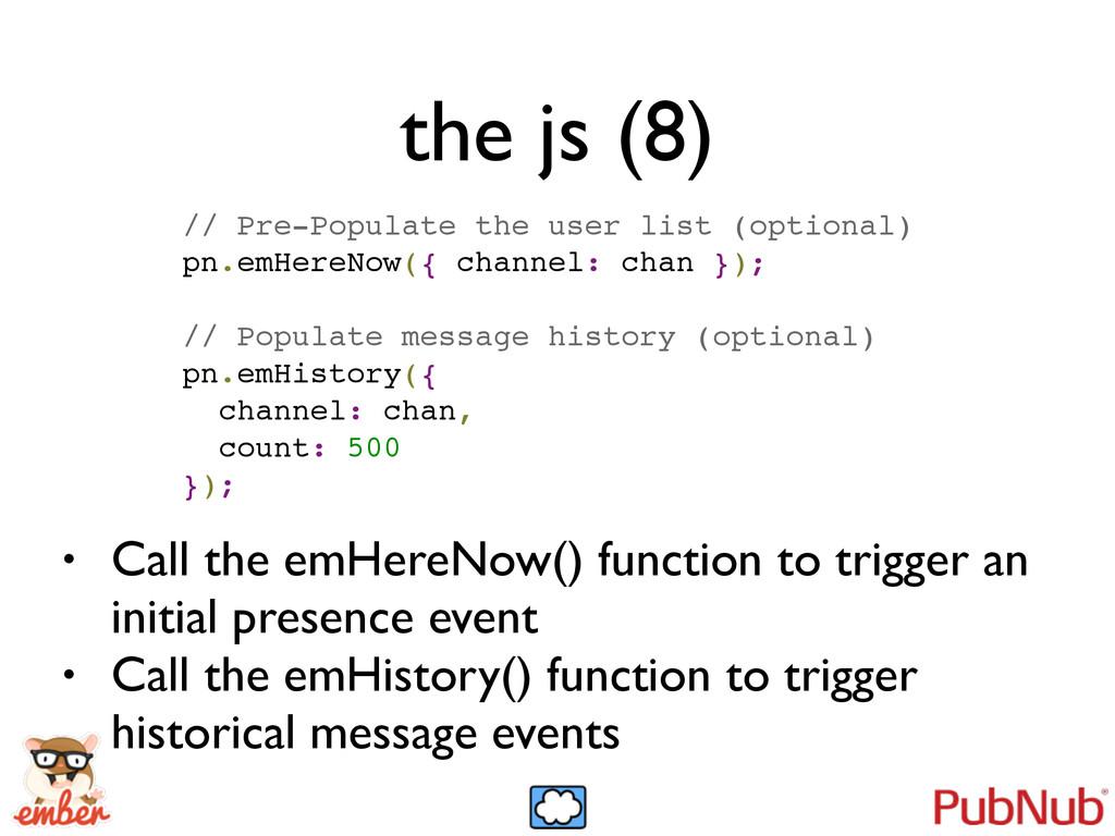 the js (8) // Pre-Populate the user list (optio...