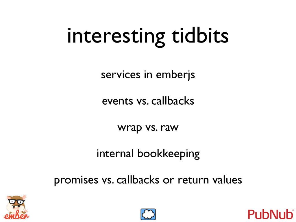 interesting tidbits services in emberjs  even...