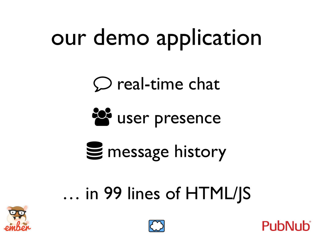 our demo application real-time chat  user pre...