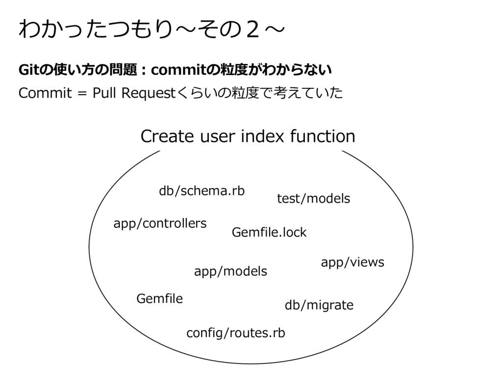 わかったつもり〜その2〜 Gitの使い⽅の問題:commitの粒度がわからない Commit ...