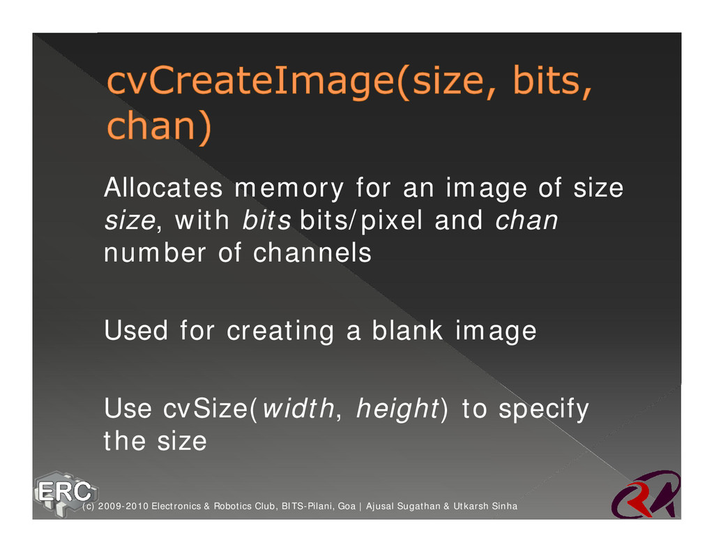 ž Allocates memory for an image of size size, w...