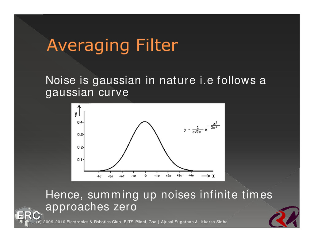ž Noise is gaussian in nature i.e follows a gau...