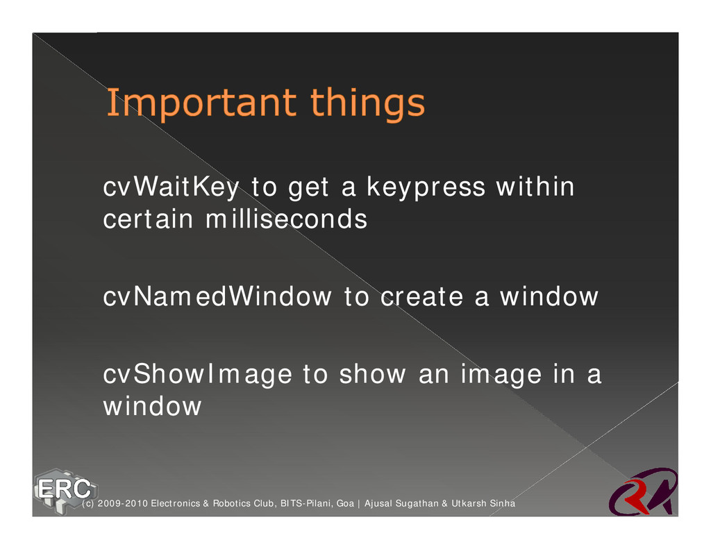 ž cvWaitKey to get a keypress within certain mi...