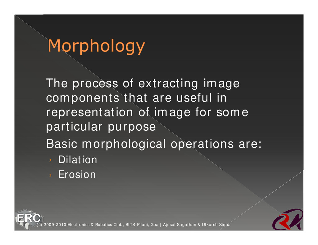 ž The process of extracting image components th...